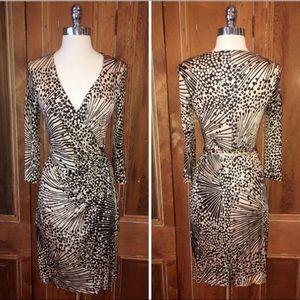 Trina Turk Signature Print Long Sleeve Wrap Dress